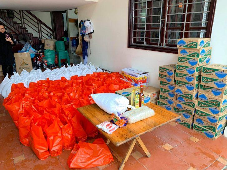 食糧寄付の準備